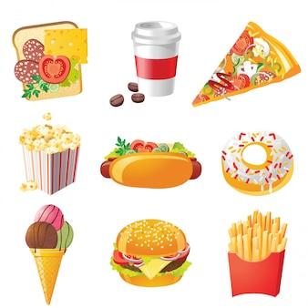 Icônes de fastfood