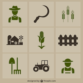 Icônes de la ferme;
