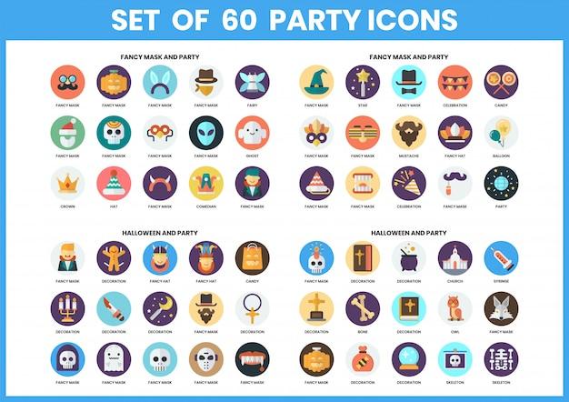Icônes de fête définies pour les entreprises