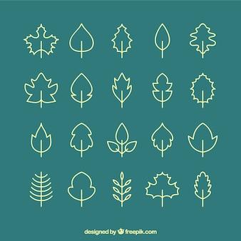 Icônes feuilles