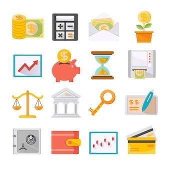 Icônes finance et investissement