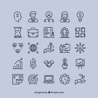 Icônes financiers de l'entreprise mis en