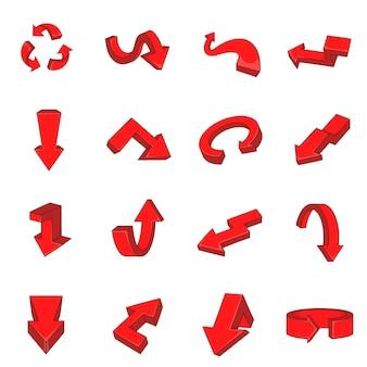 Icônes de flèche définies dans un style plat