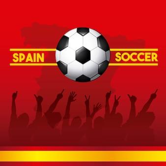 Icônes de football espagne classiques de la culture espagnole