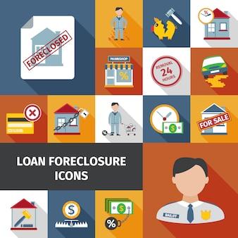 Icônes de forclusion de prêt
