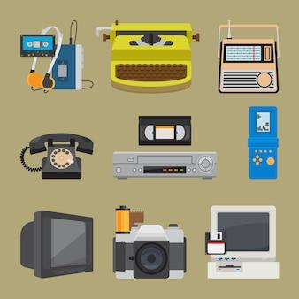 Icônes de gadgets rétro