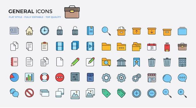 Icônes générales colorées