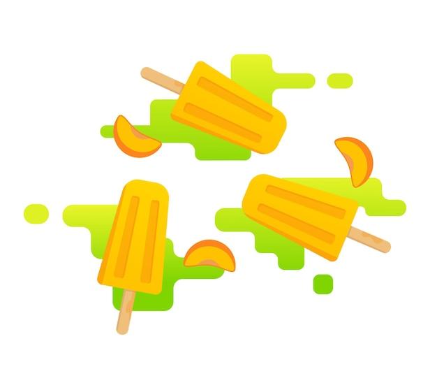 Icônes de glace aux fruits