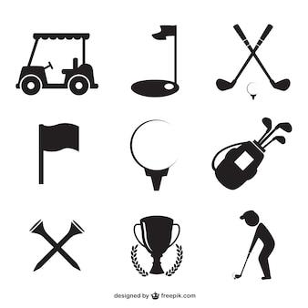 Icônes de golf mis