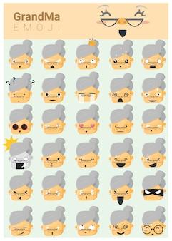 Icônes de grand-mère emoji