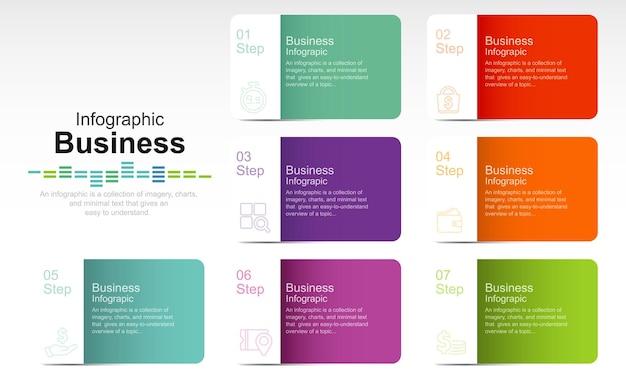 Icônes graphiques d'informations sur la chronologie des données d'entreprise conçues pour le modèle d'arrière-plan abstrait