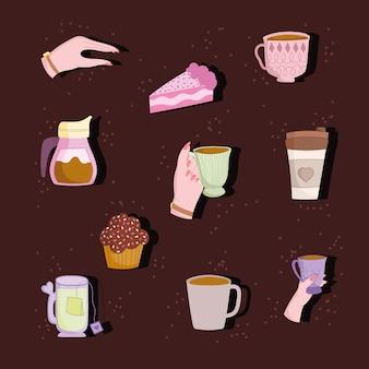 Icônes de l'heure du café