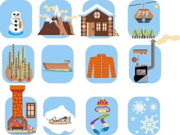 Icônes d'hiver