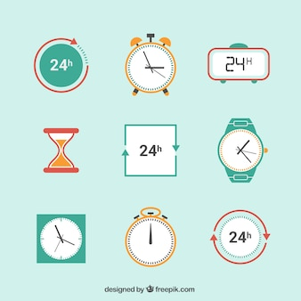 Icônes d'horloge