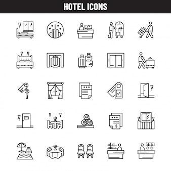 Icônes d'hôtel