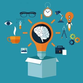 Icônes d'idées multimédia créatives