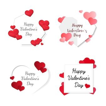 Icônes d'illustration de saint valentin