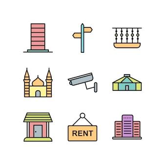 Icônes immobilières pour un usage personnel et commercial