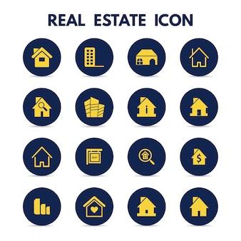 Icônes immobilières