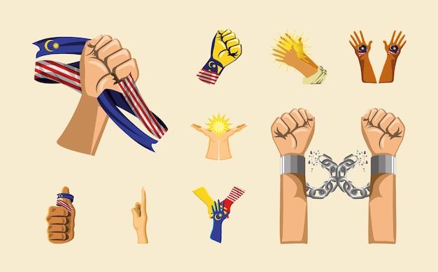 Icônes de l'indépendance de la malaisie