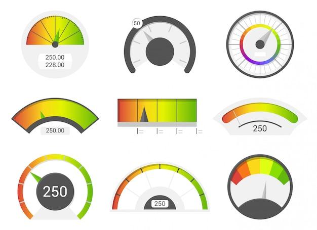 Icônes d'indicateur de vitesse