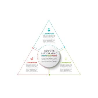 Icônes d'infographie de chronologie de cercle d'affaires