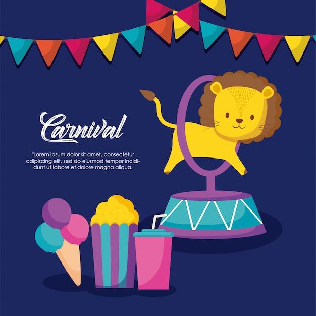 Icônes infographiques de fête de carnaval