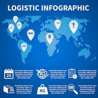 Icônes infographiques logistique