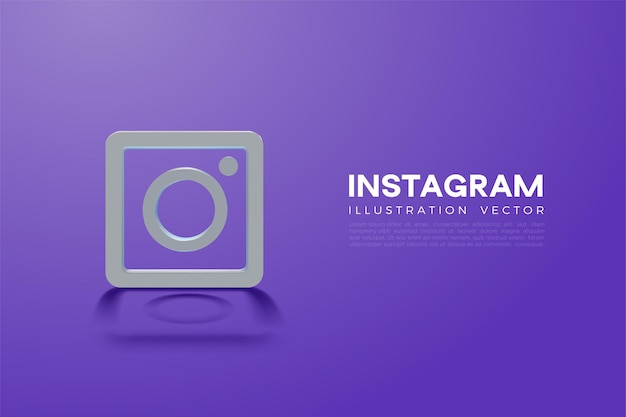 Icônes instagram 3d et instagram
