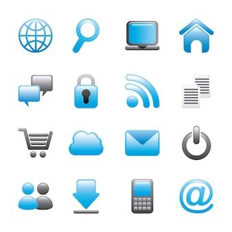 Icônes internet sur fond blanc illustration vectorielle