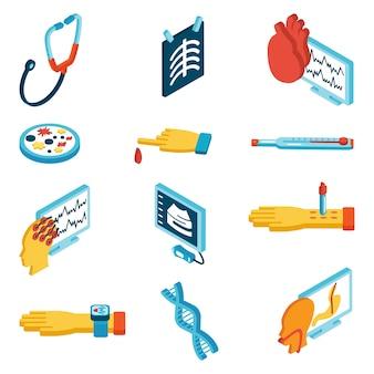 Icônes isométriques médicales