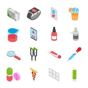 Icônes isométriques de santé