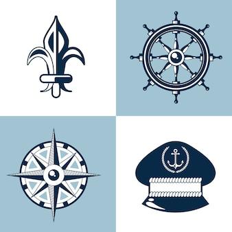 Icônes de jeu nautique