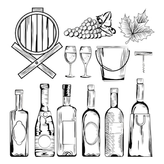 Icônes de jeu de vin rouge