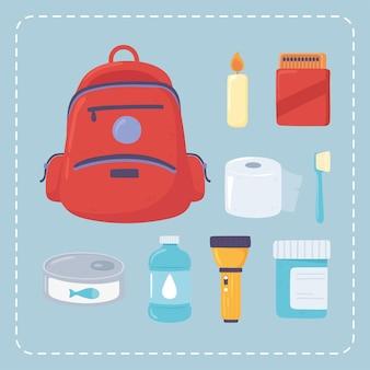 Icônes de kit d'urgence