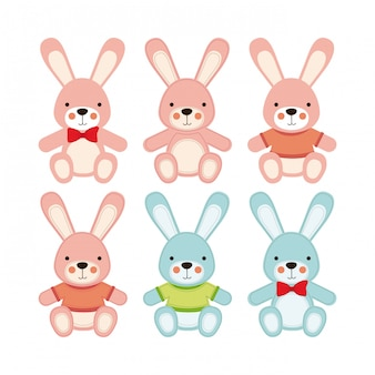 Icônes de lapin