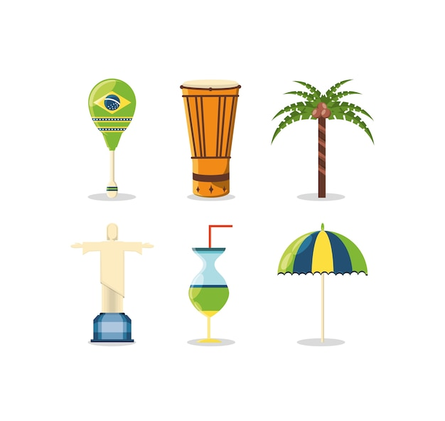 Icônes liées au brésil