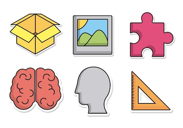 Icônes liées au processus créatif