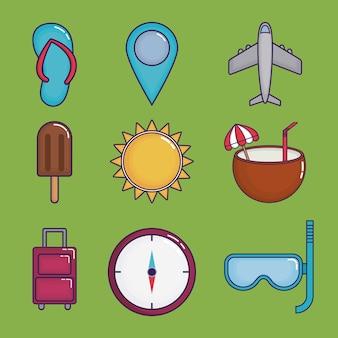 Icônes liées au temps de voyage
