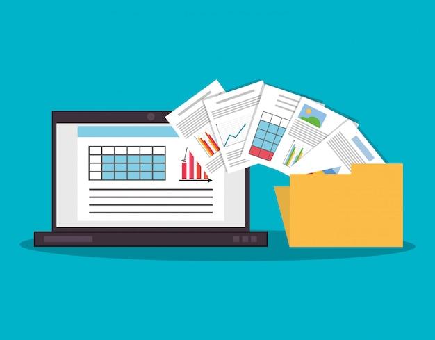 Icônes liées aux finances graphique