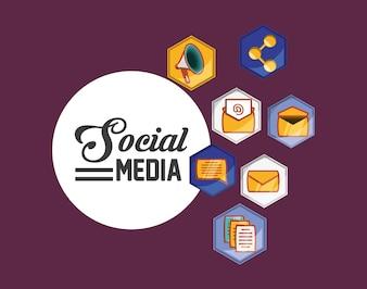 Icônes liées aux médias sociaux