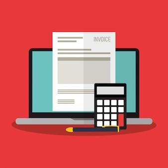 Icônes liées à l'économie de facture