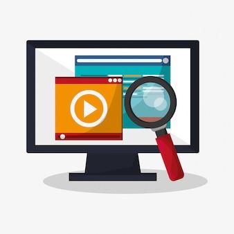 Icônes liées à la recherche web
