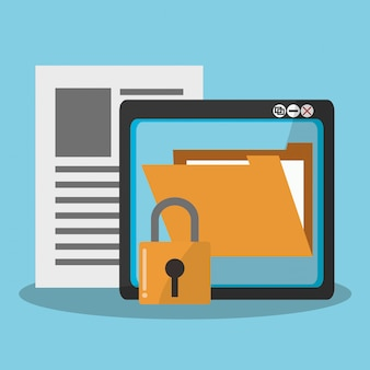 Icônes liées à la sécurité internet