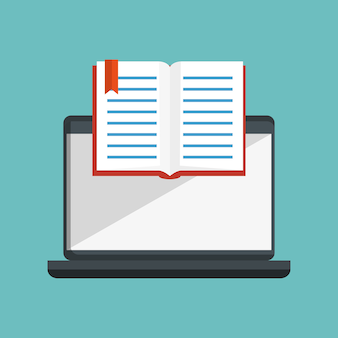 Icônes en ligne de l'éducation vector illustration design