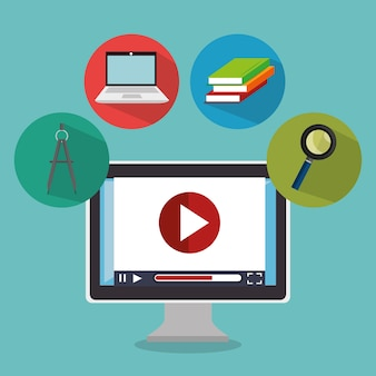 Icônes en ligne de l'éducation