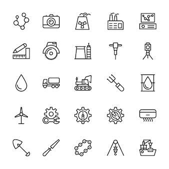 Icônes de ligne industrielle