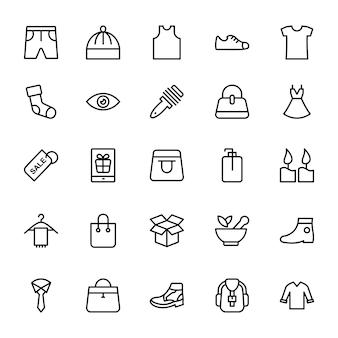 Icônes de ligne de mode