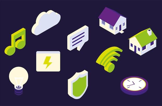 Icônes de maison intelligente