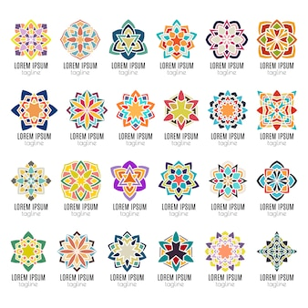 Icônes de mandala kaléidoscope